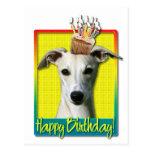 Birthday Cupcake - Whippet Postcards