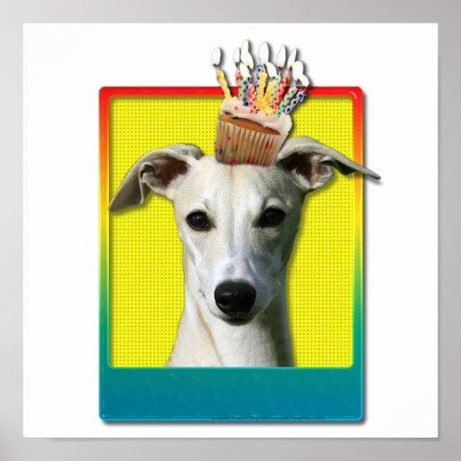 Birthday Cupcake - Whippet Poster