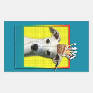 Birthday Cupcake - Whippet Rectangular Sticker
