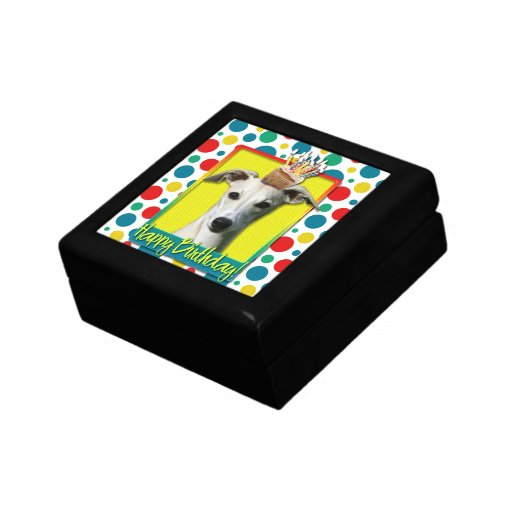 Birthday Cupcake - Whippet Trinket Box