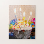 Birthday Cupcake with Candles Puzzle