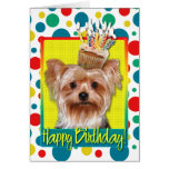 Birthday Cupcake - Yorkshire Terrier Greeting Card