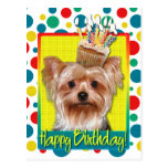 Birthday Cupcake - Yorkshire Terrier Post Cards