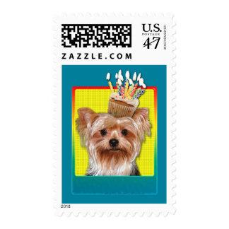 Birthday Cupcake - Yorkshire Terrier Postage