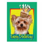Birthday Cupcake - Yorkshire Terrier Postcards