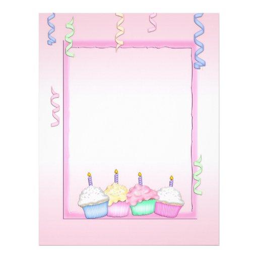 Birthday Cupcakes Letterhead