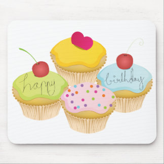Birthday Cupcakes Mouse Pads