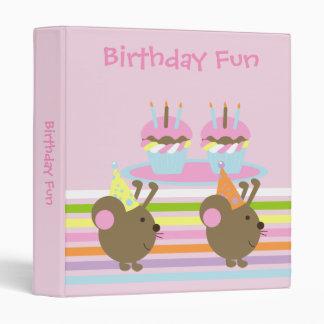 Birthday Cupcakes Party Mice Binder