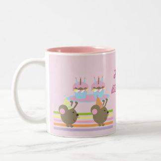 Birthday Cupcakes Party Mice Coffee Mug