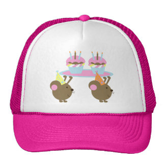 Birthday Cupcakes Party Mice Hat