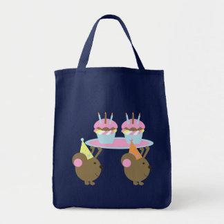 Birthday Cupcakes Party Mice Tote Bag