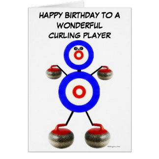 Birthday Curling Player Greeting Cards