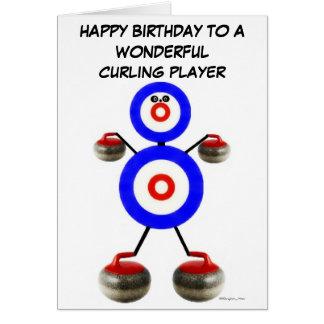Birthday Curling Player Greeting Card