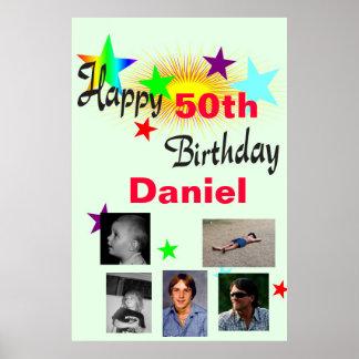 Birthday custom photo poster