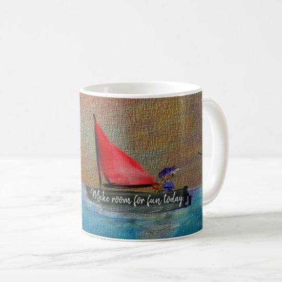 Birthday Cute Fun Folk Art Coffee Mug