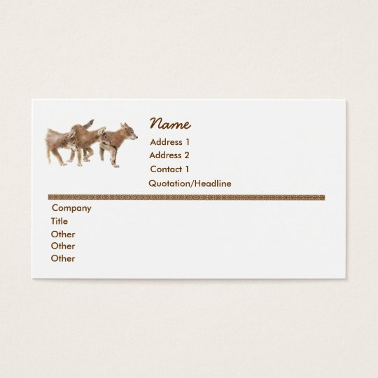 Birthday  Cute Wolf, Wolves, Cubs, Pups, Nature Business Card