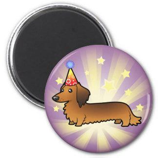 Birthday Dachshund (longhair) Magnet