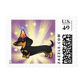 Birthday Dachshund (smooth coat) Postage
