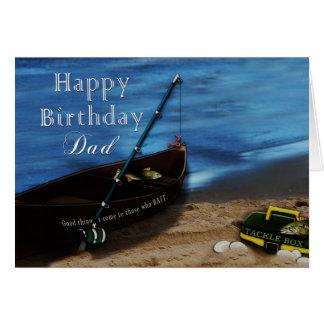BIRTHDAY - DAD - FISHING CARD