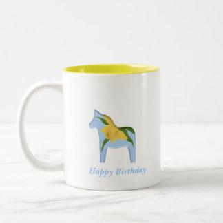 Birthday Daffodil Dala Mug