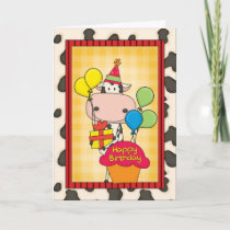 Birthday Dairy Cow Card