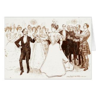 Birthday Dance 1899 Card