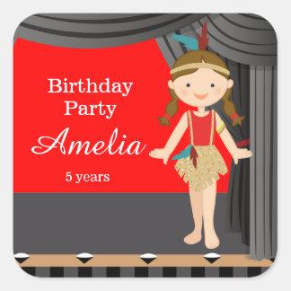 Birthday dance square sticker