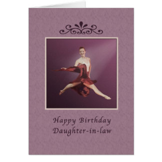 Birthday, Daughter-in-law, Leaping Ballerina Greeting Card