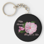 Birthday Daughter-in-law Pink Impatiens Items Key Chain