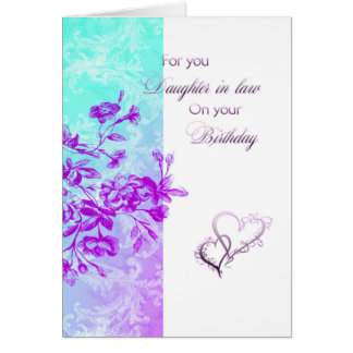 Birthday Daughter-in-law (purple) Card