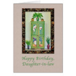 Birthday, Daughter-in-law, Still Life with Cabinet Greeting Card