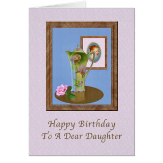 Birthday, Daughter, Still Life with Pitcher and Ro Card
