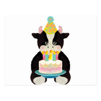 birthday day cow post cards
