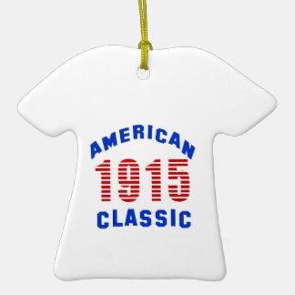Birthday Design 100 Double-Sided T-Shirt Ceramic Christmas Ornament