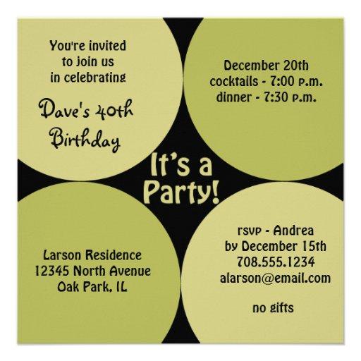 birthday dinner party invitation template square invitation card zazzle