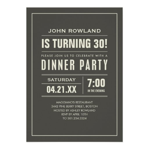 Dinner Party Invitations Wording – Wording for Dinner Party Invitations