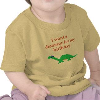 Birthday Dinosaur apparel Tee Shirts