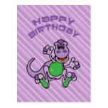 Birthday Dinosaur Postcard