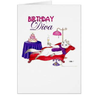 Birthday Diva Birthday Card