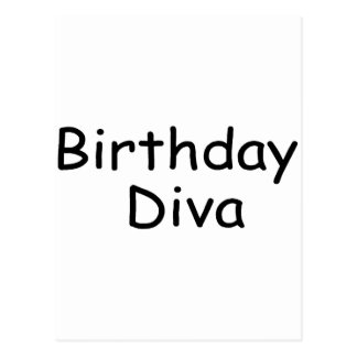 Birthday Diva Postcard