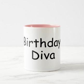 Birthday Diva Two-Tone Coffee Mug