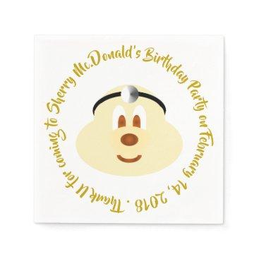 Wedding Themed Birthday - Doctor 鮑 鮑 Paper Napkin