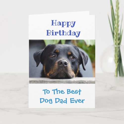 Birthday Dog Dad Worlds Best Ever Pet Photo Card