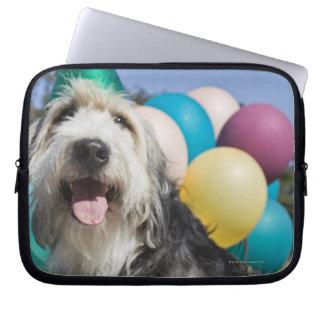 Birthday dog laptop computer sleeves