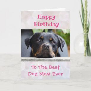 Birthday Dog Mom Worlds Best Ever Pet Photo Card