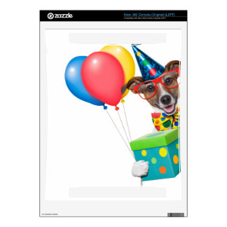Birthday Dog With Balloons Tie and Glasses Xbox 360 Decal