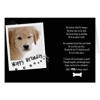 Birthday Doggy Humor Cards