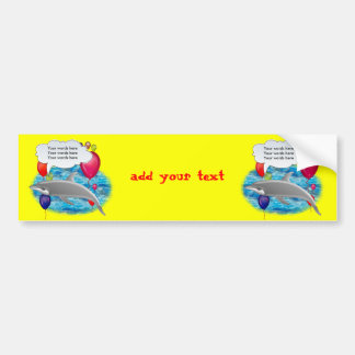 Birthday dolphin bumper sticker
