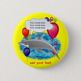Birthday dolphin button