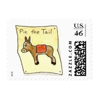 Birthday Donkey Stamp